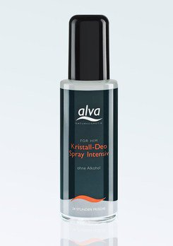 Bio-Lebensmittel online kaufen: 1x FOR HIM Kristall Deo Spray Intensiv von Alva, 1x 75 ml