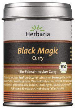 Bio-Lebensmittel online kaufen: 1x Black Magic Curry bio M-Dose von HERBARIA, 1x 80 g