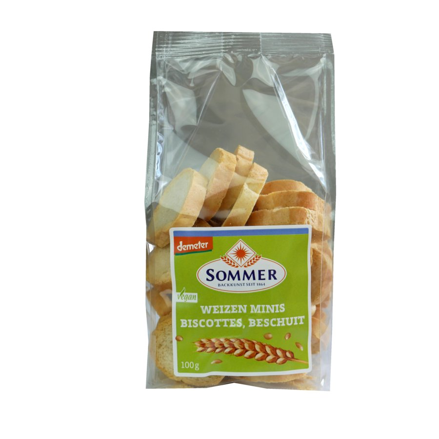 5 x Sommer&Co Bio Chlebové suchary Mini, 100g