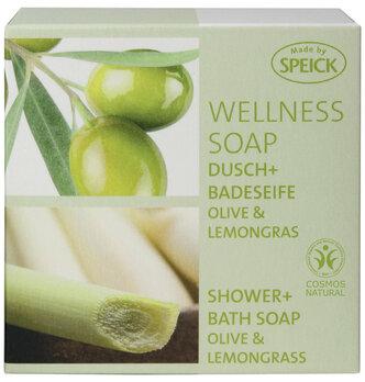 Made by Speick Wellness Soap, Dusch- und Badeseife Olive & Lemongras