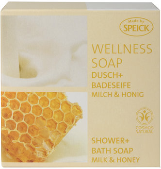 Made by Speick Wellness Soap, Shower and Bath Soap Milk & Honey