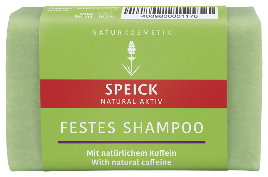 Speick Natural AktivSolid Shampoo with natural coffeine