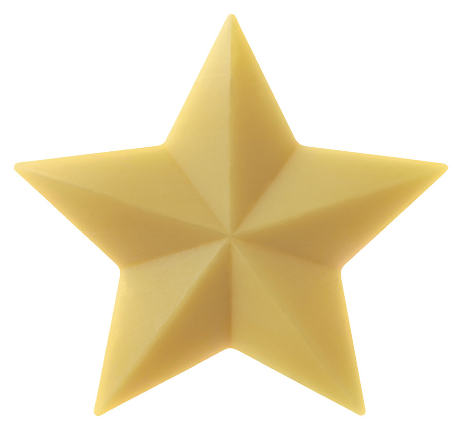 Made by SpeickHappiness is a bar of soap, Plant Oil Soap Stars