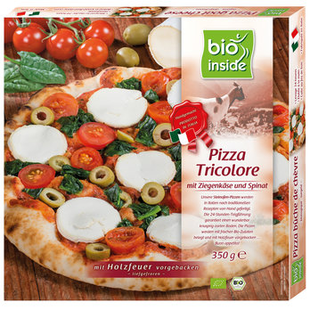 Wood-fired pizza tricolore