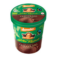 Chocolate ice cream family cup