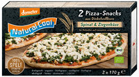 Spelt wholemeal Pizza-Snacks Spinach & Goat Cheese