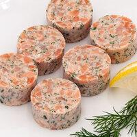 Organic smoky salmon tartare