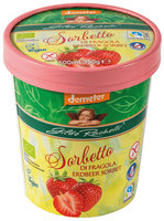 Strawberry sorbet family cup