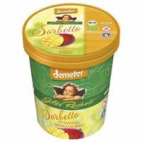 Mango sorbet family cup