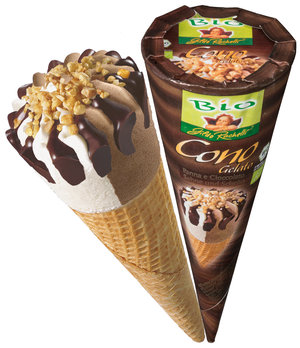 Cono ice chocolate and cream