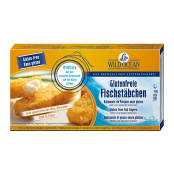 Glutenfreie Fischstäbchen mit Bio-Panade