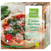 Dinkel-Mini-Pizza ¨Spinaci¨ vegan