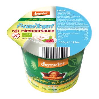 Frozen Yogurt mit Himbeersauce