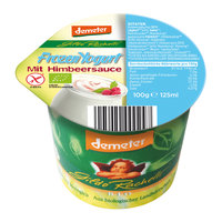 Frozen Yogurt mit Himbeersauce 100g