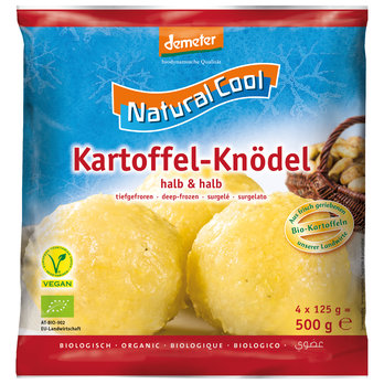 Kartoffel-Knödel, halb & halb