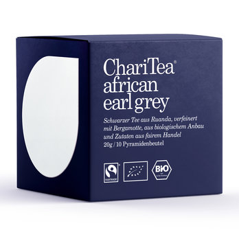 ChariTea african earl grey Pyramidenbeutel 10 x 2g MHD 04/2019