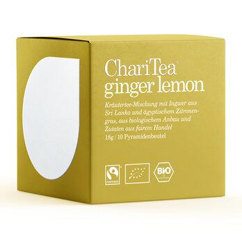 ChariTea ginger lemon Pyramidenbeutel 10 x 1,8g