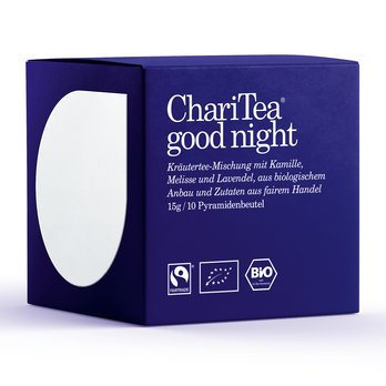 ChariTea good night Pyramidenbeutel 10 x 1,5g