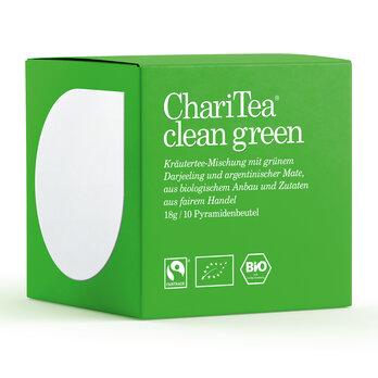ChariTea clean green Pyramidenbeutel 10 x 1,8g MHD 20.05.2019