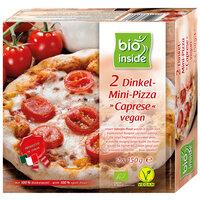 "Mini épeautre-pizza  ""caprese"" vegan"